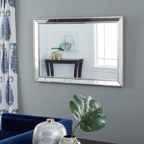 Abbyson Ariel Modern Gold Rectangle Wall Mirror