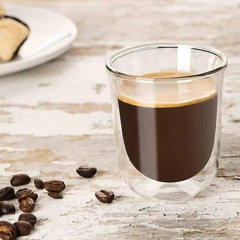 JoyJolt Javaah Double Wall Espresso Glasses, 2 Ounce Set of 2 Nespresso Cups