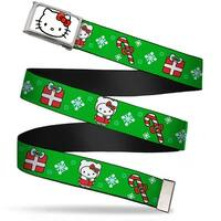 Hello Kitty Face Fcg White Bo Chrome Hello Kitty Christmas 1 Webbing Web Belt