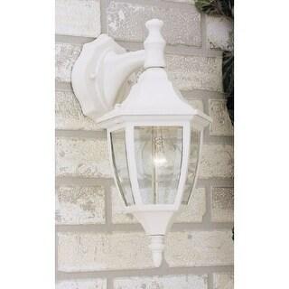 "Designers Fountain 2461-WH 1 Light 7"" Cast Aluminum Wall Lantern"