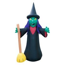 Holidayana Halloween Inflatable Witch With Broom/ 6 FEET TALL / Halloween / Halloween Decorations