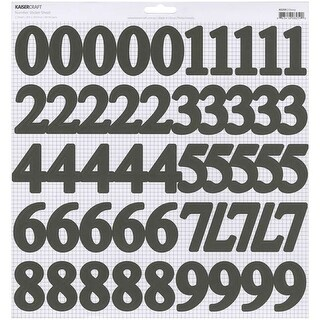 "Ebony 1.75"" - Number Stickers 12""X12"" (5/Pack)"