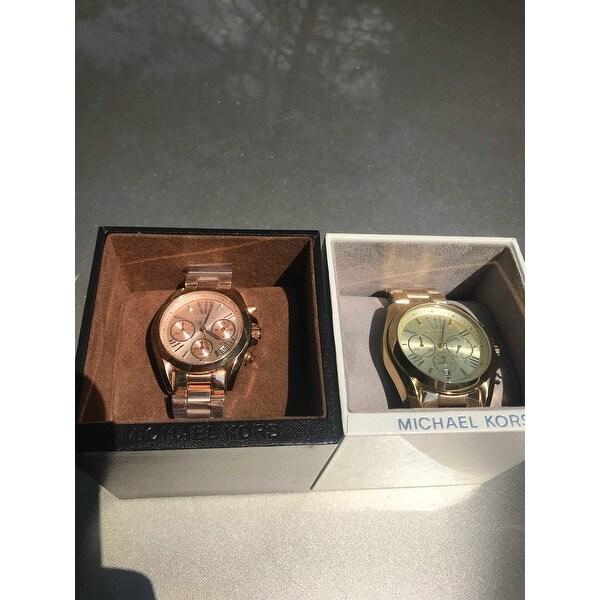 b2666afff265 Shop Michael Kors Women s  MK5799 Bradshaw Mini  Rose Goldtone Watch - Free  Shipping Today - Overstock - 8968513