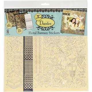 Dazzles Stickers 2/Pkg-Floral Fantasy
