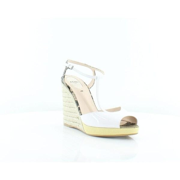 Fendi Elodie Espadrille Women's Heels White - 8