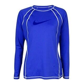 Nike Women's Contrast Stitch UPF 40+ Rash Guard