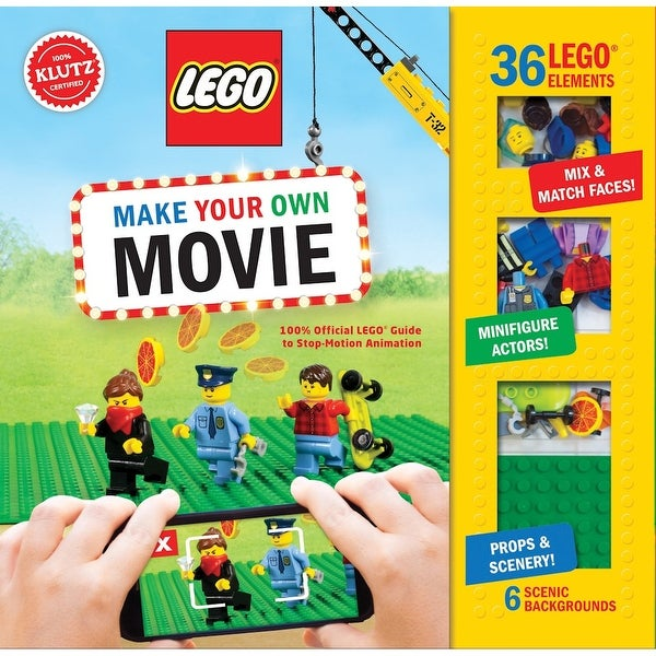 Lego Make Your Own Movie Book Kit - Stop Motion Film Guide - 80 Pages