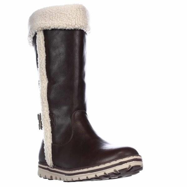 White Mountain Cliffs Kesha Mid Calf Winter Boots, Brown