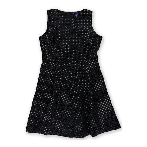 American Living Womens A-Line Shift Dress, Black, 14