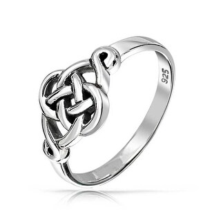 925 Sterling Silver Irish Celtic Love knot Ring
