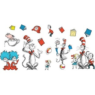 Eureka The Cat in the Hat Bulletin Board Set, Large Characters