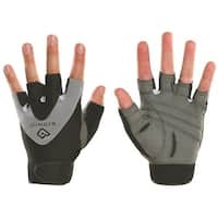 Bionic Men's StableGrip Half-Finger Fitness Gloves - Gray/Black