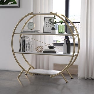Link to CosmoLiving by Cosmopolitan Amelia Round Bookcase Similar Items in Living Room Furniture