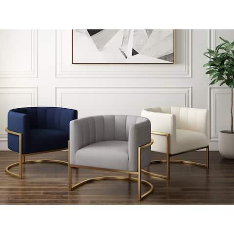 Havana Textured Velvet Upholstered Accent Chair