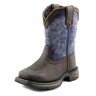 Durango Lil Durango Youth  Pointed Toe Leather Blue Western Boot