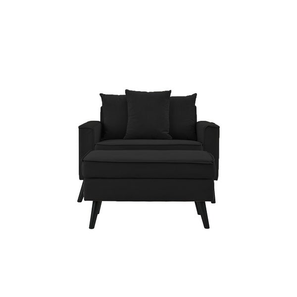 Modern Upholstered Chair with Ottoman. Opens flyout.