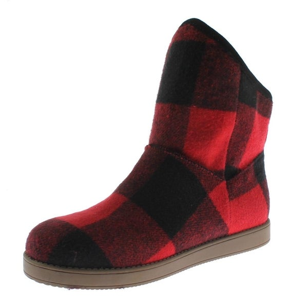Indigo Rd. Womens Aylee Casual Boots Checkered Ankle
