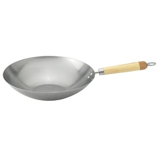 Helen Chen's Asian Kitchen 97087 Carbon Steel Stir Fry Pan, 12""