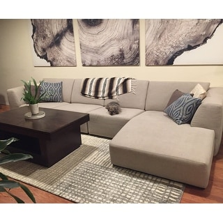Brently Ivory/ Grey Abstract Rug (7'7 x 10'6)