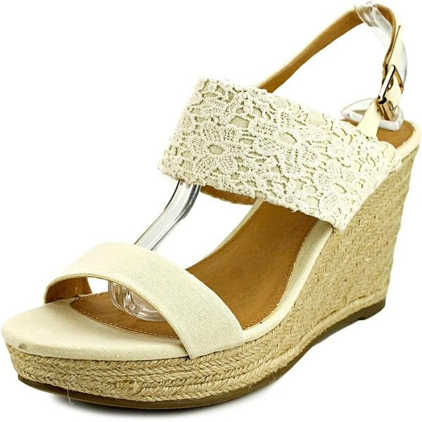 Report Kynsley Women Open Toe Canvas Wedge Sandal