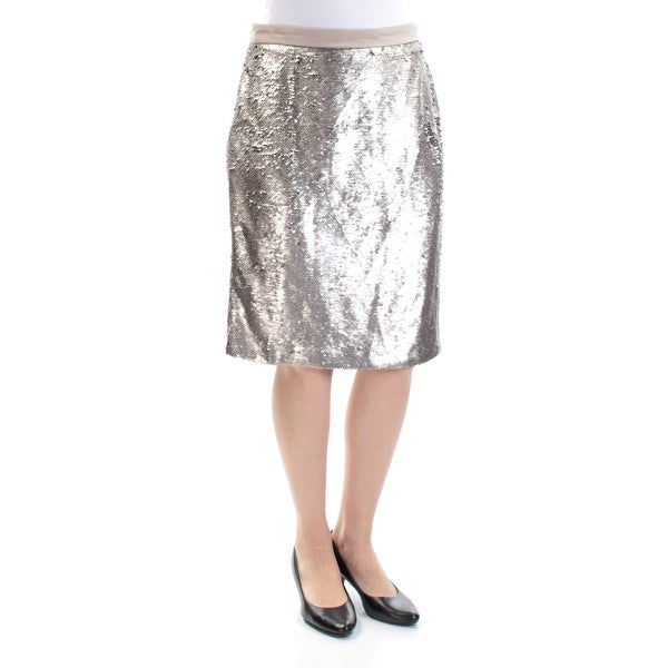 ddb57334e Shop MAISON JULES Womens Gold Sequined Zippered Below The Knee Pencil Party Skirt  Size: 4 - Free Shipping On Orders Over $45 - Overstock - 25430567