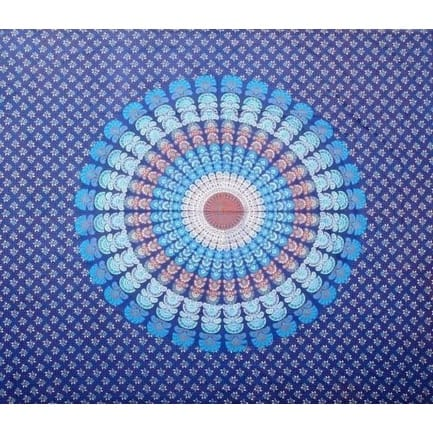 Mandala Floral Peacock Cotton Tablecloth Rectangle Vibrant Colors Multiple Designs Overstock 12249680