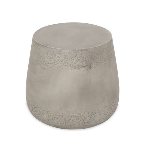 """Orion Indoor Contemporary Lightweight Concrete Accent Side Table by Christopher Knight Home - 19.00""""W x 19.00""""D x 16.25""""H"""