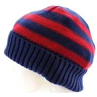 Urban Pipeline knit Beanie Fall Winter Hat Blue Red New - One size