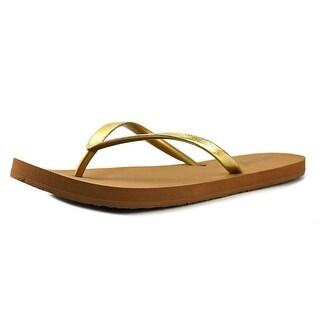 Reef Stargazer Women  Open Toe Synthetic Gold Thong Sandal