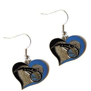 Orlando Magic Swirl Heart Earring NBA Dangle Logo Charm Gift
