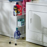 Home Essentials 05121 3-Tier Storage Cart-White