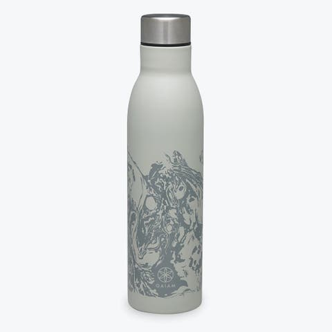 GAIAM Easy-Grip Stainless Steel Water Bottle (25OZ) - 25oz