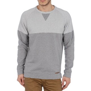 Diesel Skim Sweater Medium Light Grey Terry Cloth Pullover Crew Sweatshirt