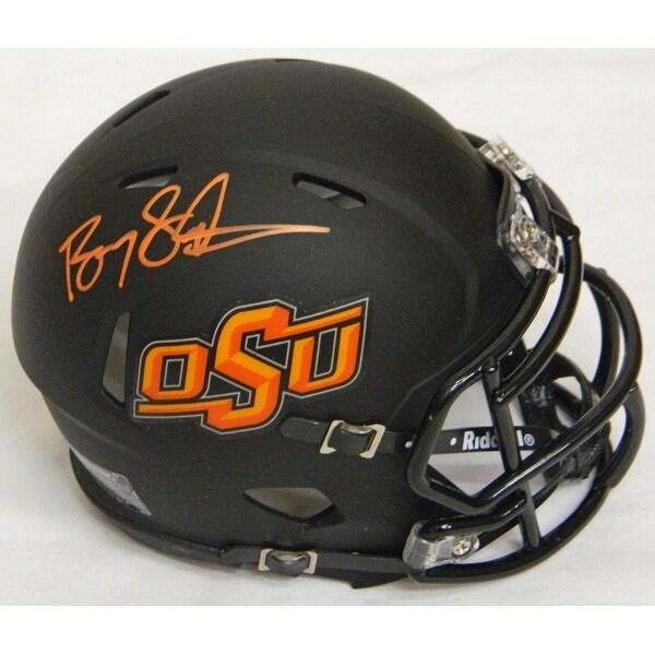 Barry Sanders Oklahoma State Black Riddell Speed Mini Helmet