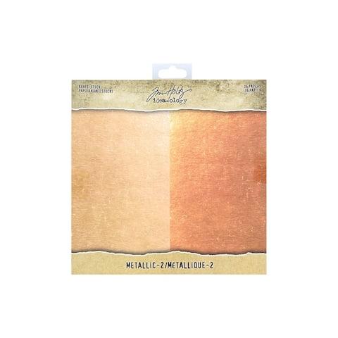 Th93780 tim holtz idea-ology paper stash 8x8 metallic 2