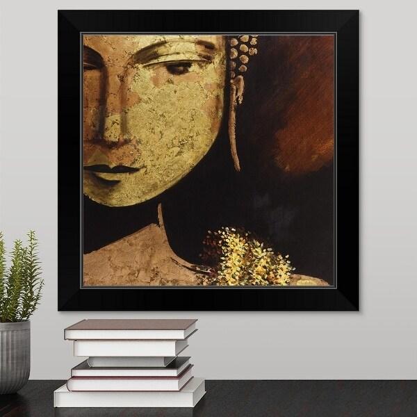 """""""Golden Buddha"""" Black Framed Print"""