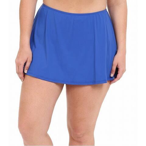 MICHAEL Michael Kors Blue Womens Size 22W Plus Swimwear Skirt