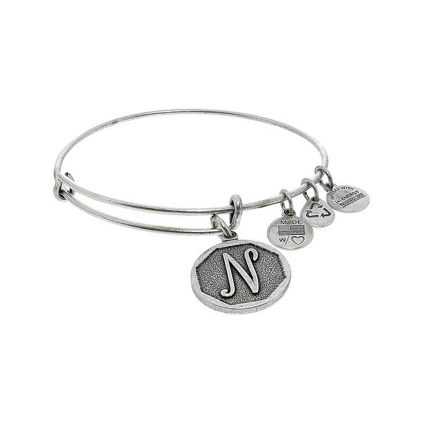 Alex And Ani Women X27 S N Initial Bracelet Bangle 7