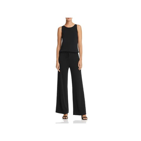 Theory Womens Jumpsuit Knit Scoop-Neck
