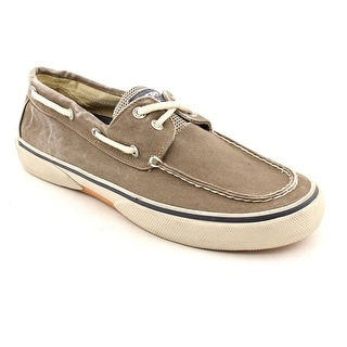 Sperry Top Sider Halyard Moc Toe Canvas Boat Shoe