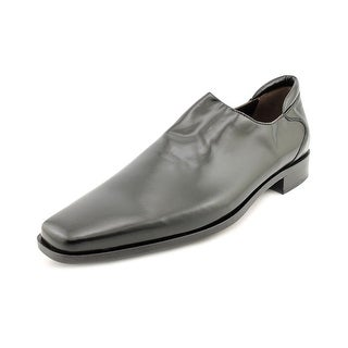 Donald J Pliner Rex Men  Square Toe Leather Black Loafer