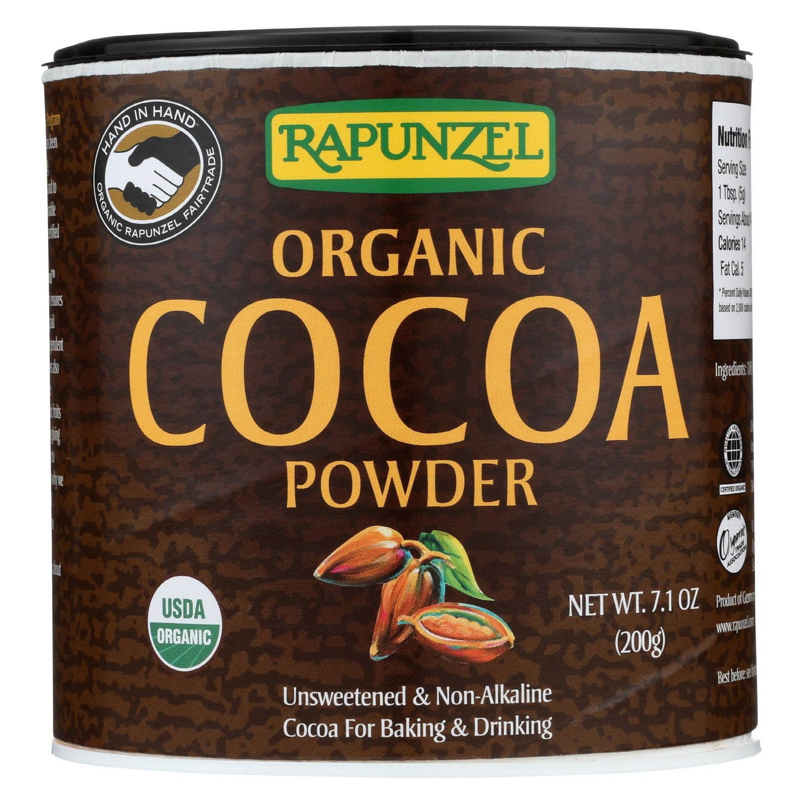 Rapunzel Organic Cocoa Powder - Case of 6 - 7.1 oz -  Overstock