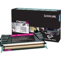 Lexmark C746A4MG Lexmark Toner Cartridge - Magenta - Laser - 6000 Page - 1 Each