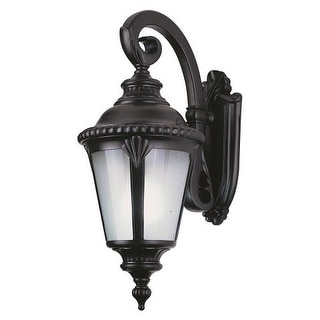Trans Globe Lighting 5043 Single Light Small Outdoor Wall Lantern With  Seeded Glass