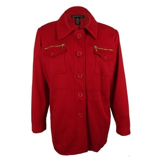INC International Concepts Women's Single Breasted Coat