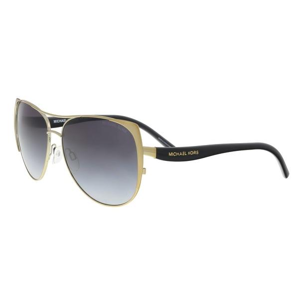 9cc11c2cae4c4 Shop Michael Kors MK1005 115611 Sadie Gold Aviator Sunglasses - 59 ...