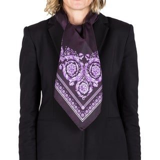 Versace Women's Silk Floral Reptile Pattern Scarf