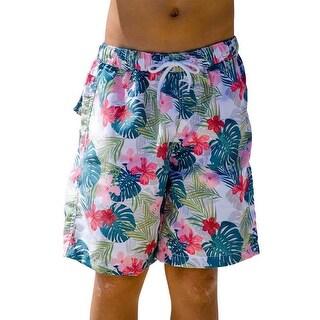 Sun Emporium Boys Multi Color Havana Print Board Shorts