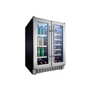 Danby DBC047D3 24 Inch Wide 21 Bottle Capacity Built-In Beverage Center with Dua