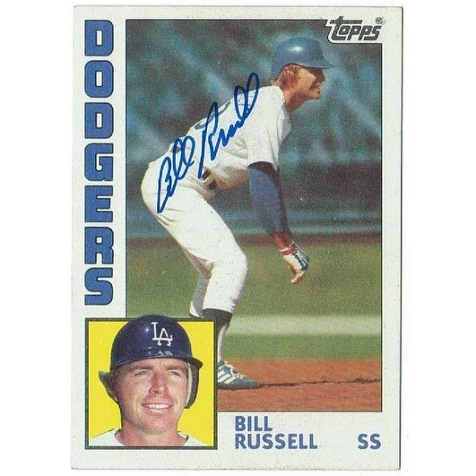 Bill Russell Los Angeles Dodgers Autographed 1984 Topps Card